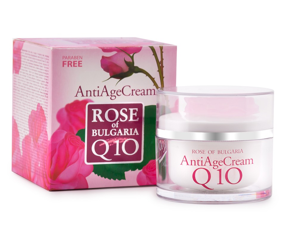 Anti age krém s koenzymem Q10 a růžovou vodou, Rose of Bulgaria  50ml