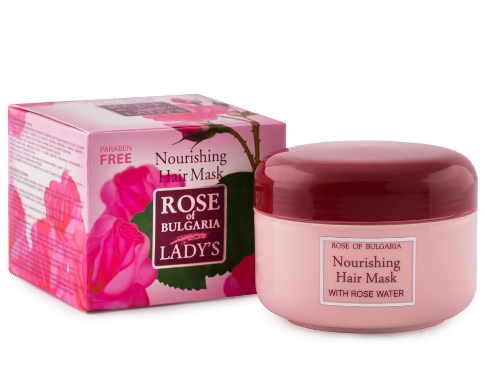 Maska na vlasy s růžovou vodou, makadamovým olejem 330 ml Rose of Bulgaria