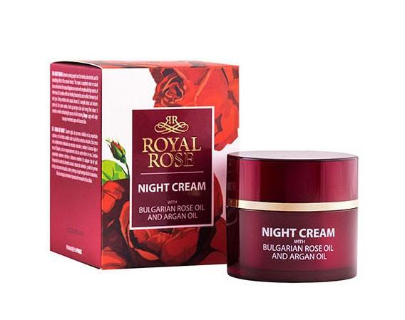 Noční krém s růžovým a Arganovým olejem, Royal Rose