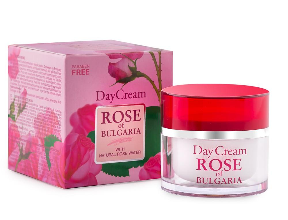 Denní pleťový krém Rose of Bulgaria s růžovou vodou rozmarýnem a heřmánkem 50 ml