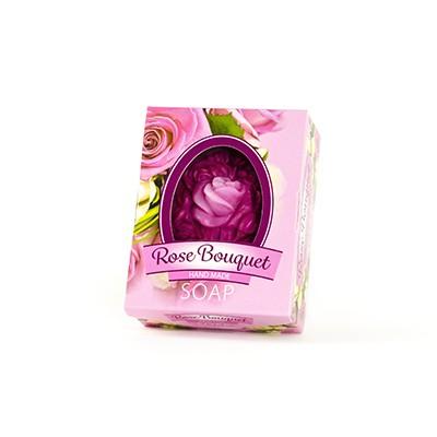 Glycerinové mýdlo Rose Bouquet - ručně vyrobené, 50 gr