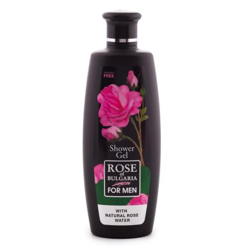 Šampon a sprchový gel 2v1 pro muže s růžovou vodu