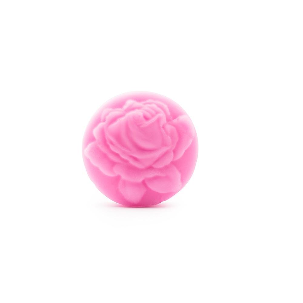 Glycerinové mýdlo kulaté BioFresh Rose ručně vyrobené 50 g